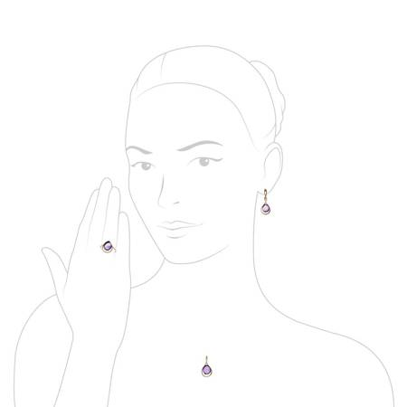 Silver earrings with amethysts