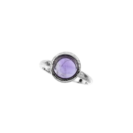 Silver ring with agat amethyst